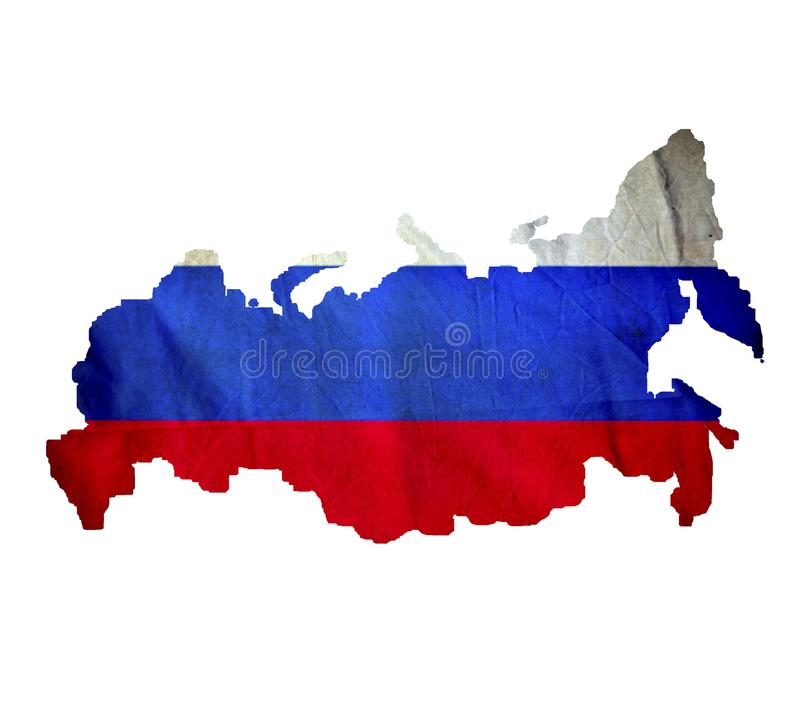 Map of Russia isolated stock image