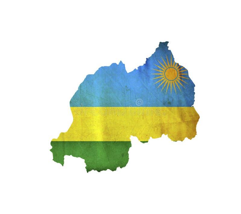 Map of Rwanda isolated stock photo