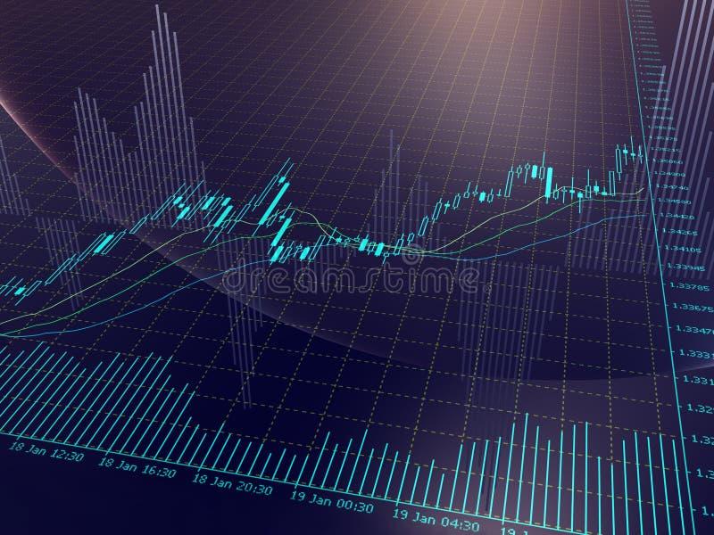 map rynek walutowy royalty ilustracja