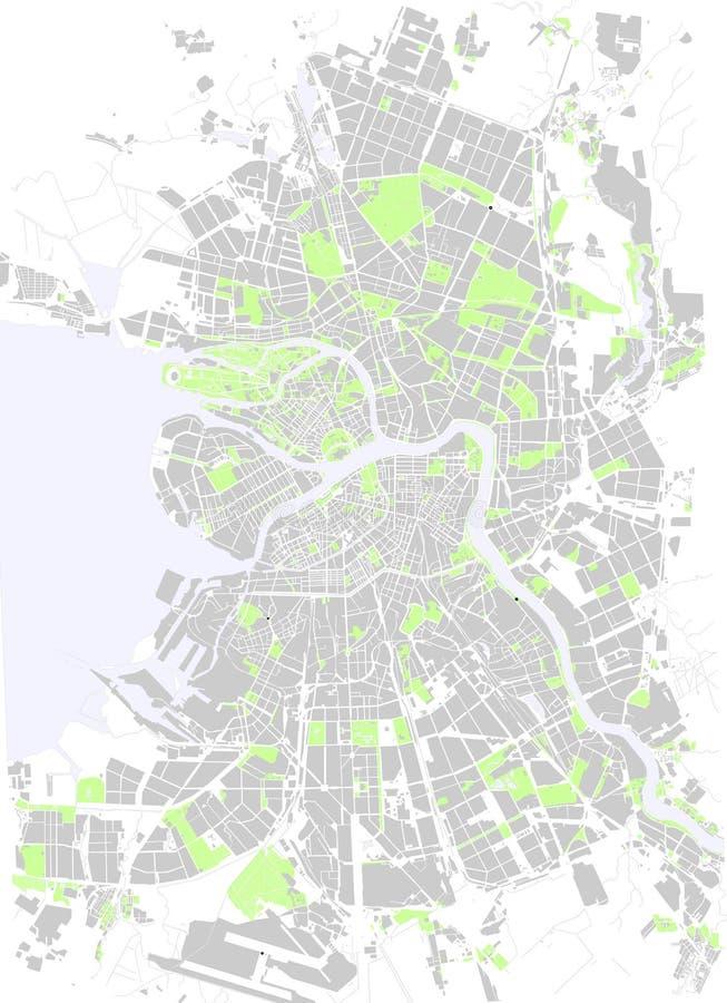 Map Saint Petersburg royalty free illustration