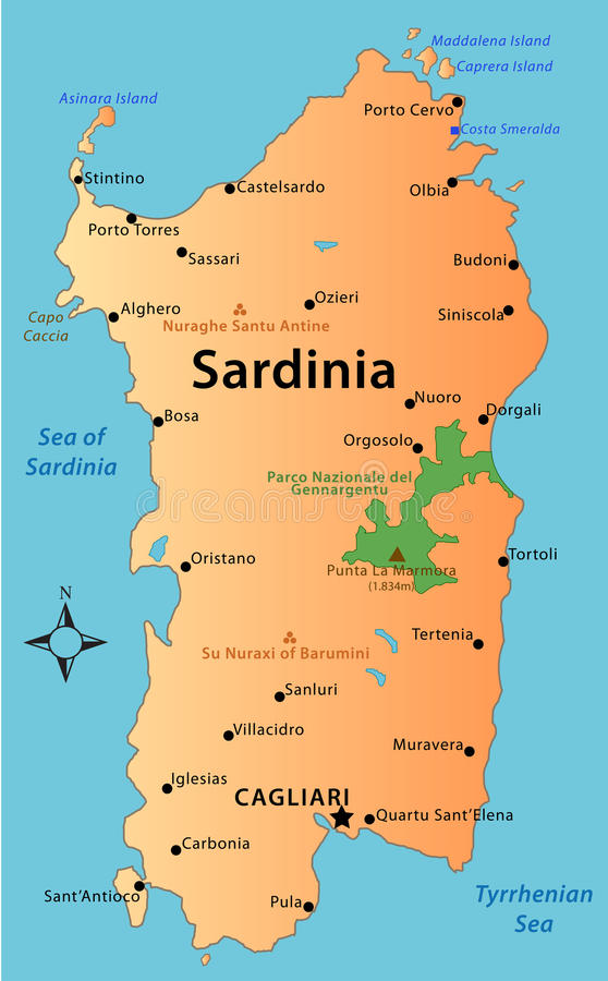 Map of sardinia stock illustration illustration of archaeology download map of sardinia stock illustration illustration of archaeology 37266086 gumiabroncs Image collections