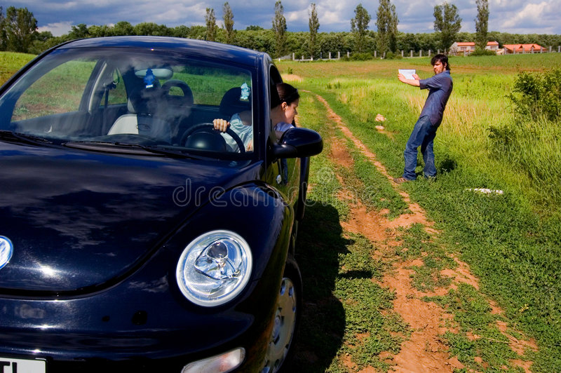 Download Map Says This Way stock image. Image of rural, blue, people - 1422121