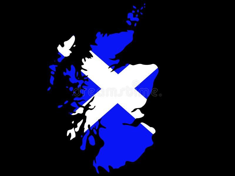 Map of Scotland stock illustration