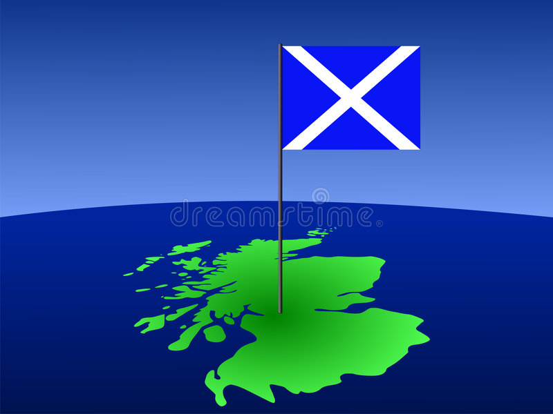 Download Map of scotland with flag stock vector. Image of atlas - 3100170