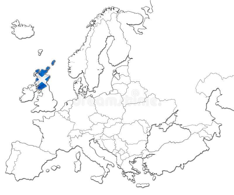 Map of Scotland vector illustration