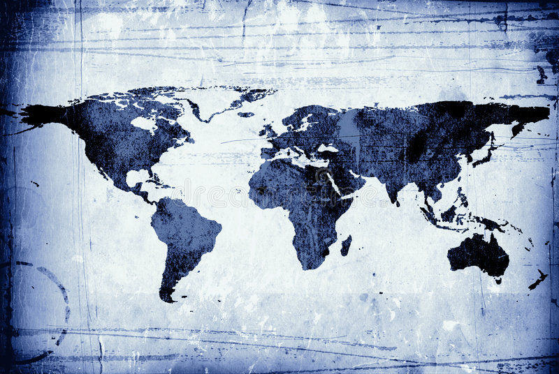 Map on a scruffy piece of paper royalty free stock image