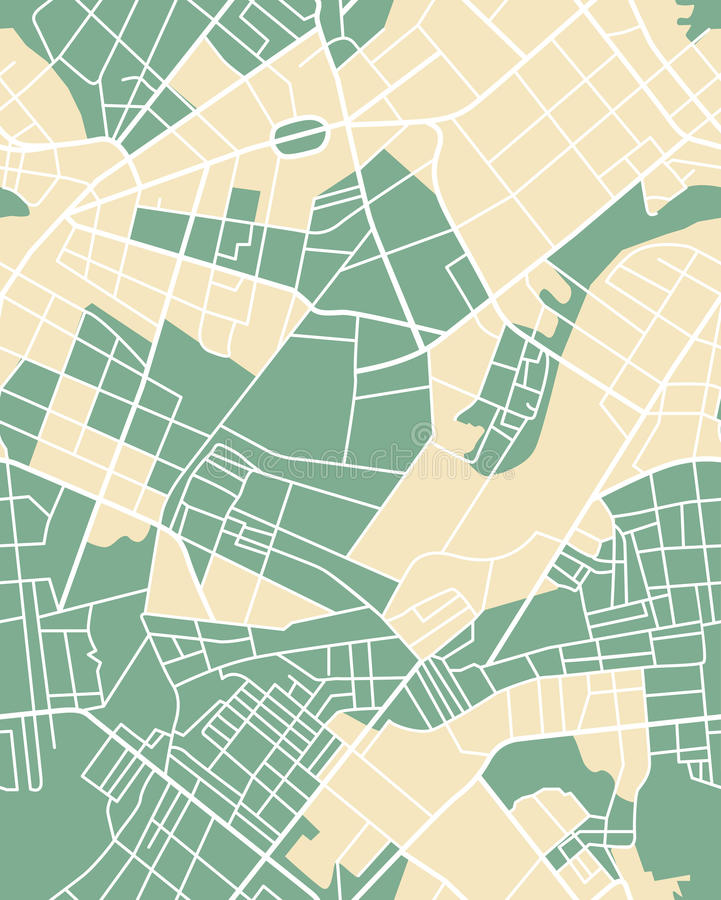 Map seamless colored vector illustration