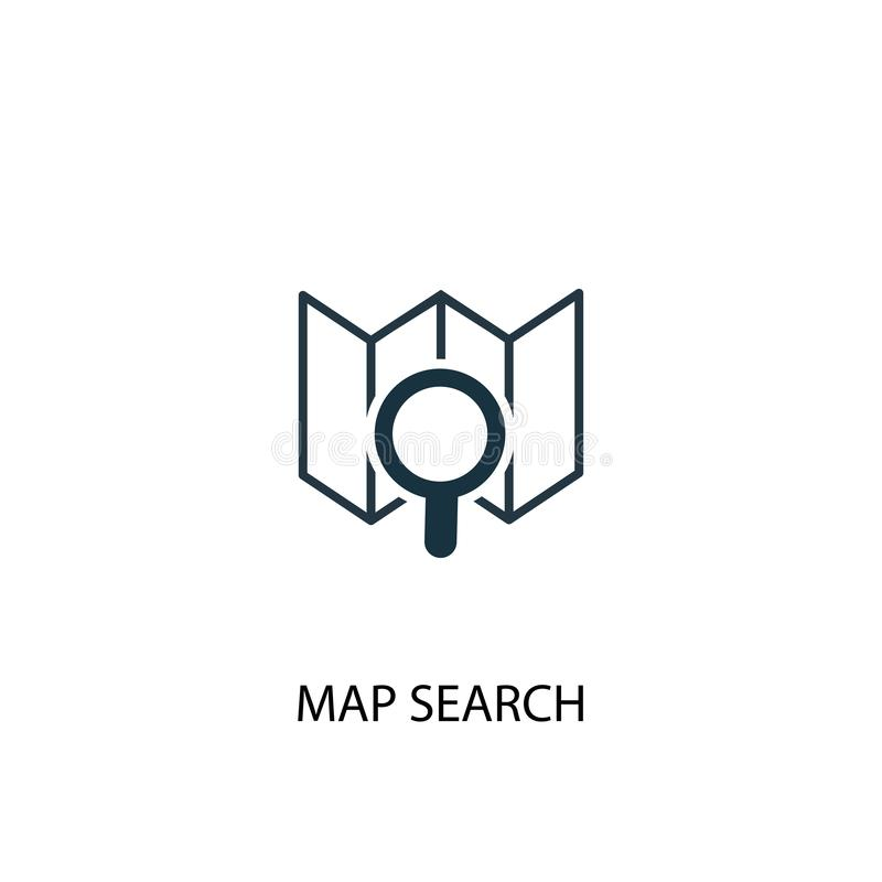Map search icon. Simple element royalty free illustration