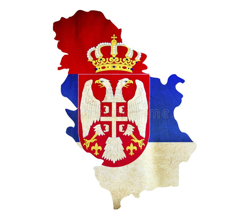Map of Serbia isolated royalty free stock photos