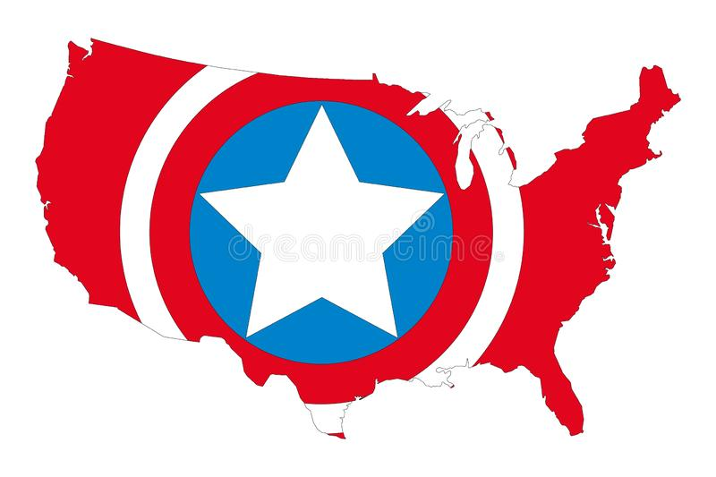 Map silhouette of the United States of America vector illustration