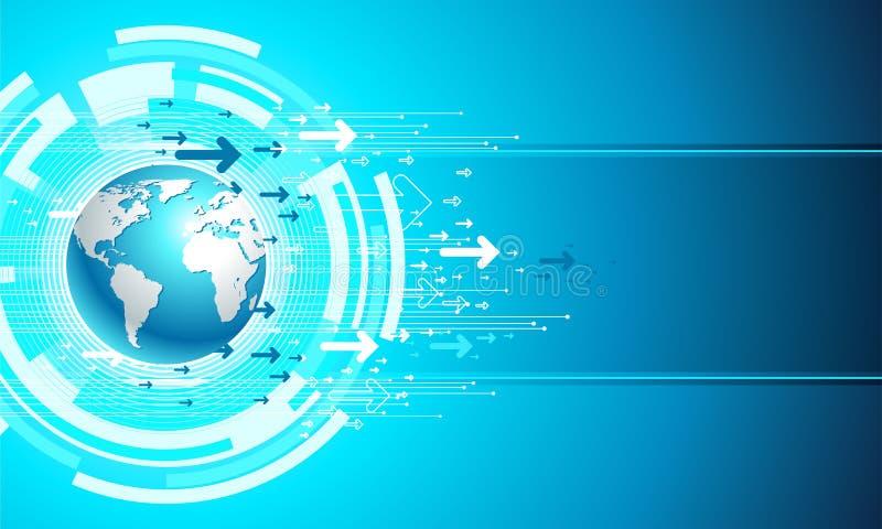 Map site business. Digital templete in blue vector illustration