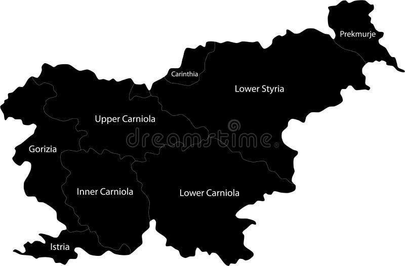 Map Of Slovenia Stock Image