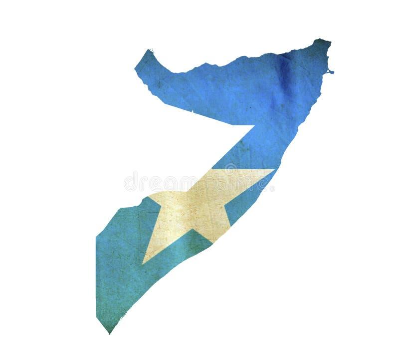 Map of Somalia isolated royalty free stock image