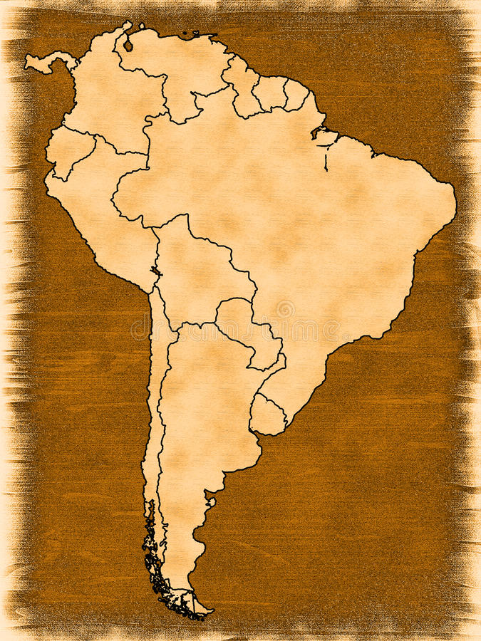Map Of South America Royalty Free Stock Photo