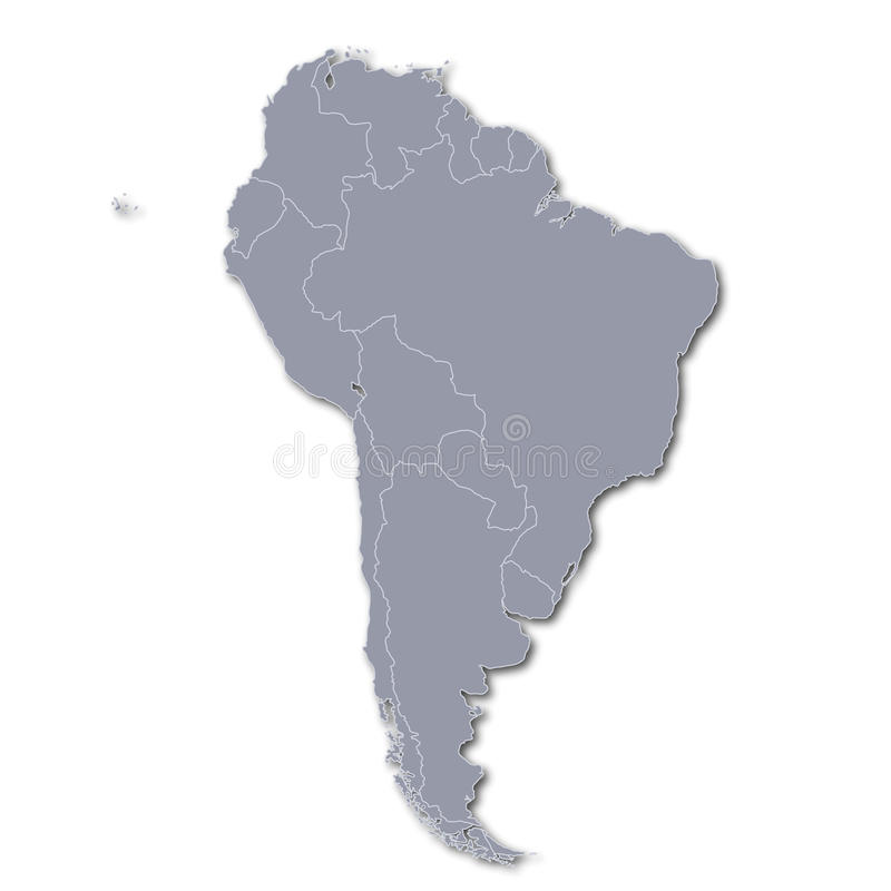 Map of South America stock illustration