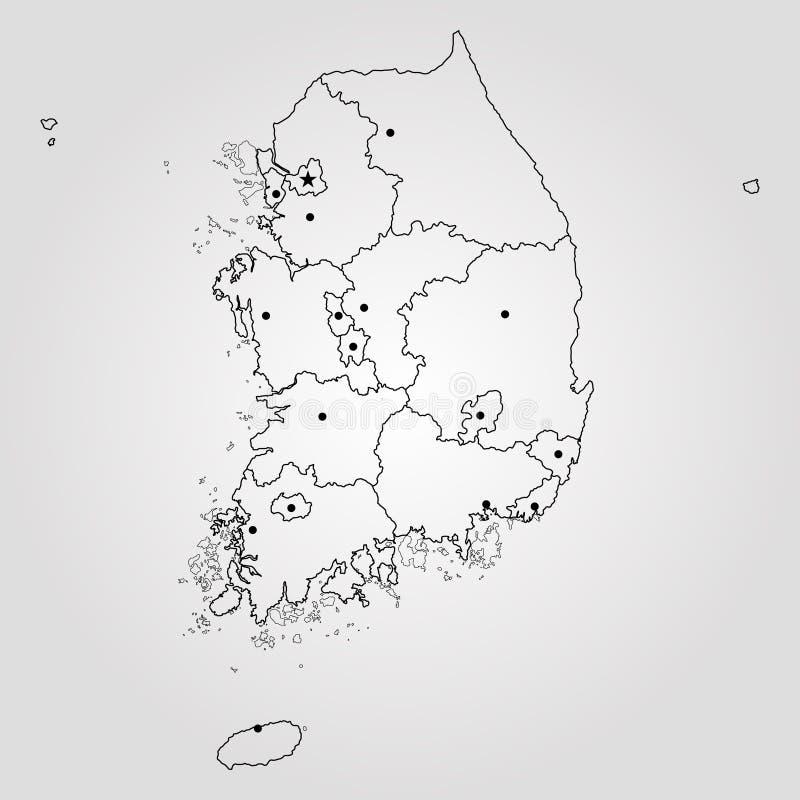 Map of south korea stock illustration illustration of busan 103893938 map of south korea vector illustration world map gumiabroncs Choice Image
