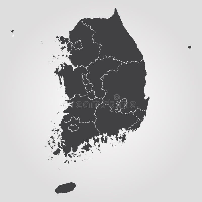 Map of south korea stock illustration illustration of continent map of south korea vector illustration world map gumiabroncs Choice Image