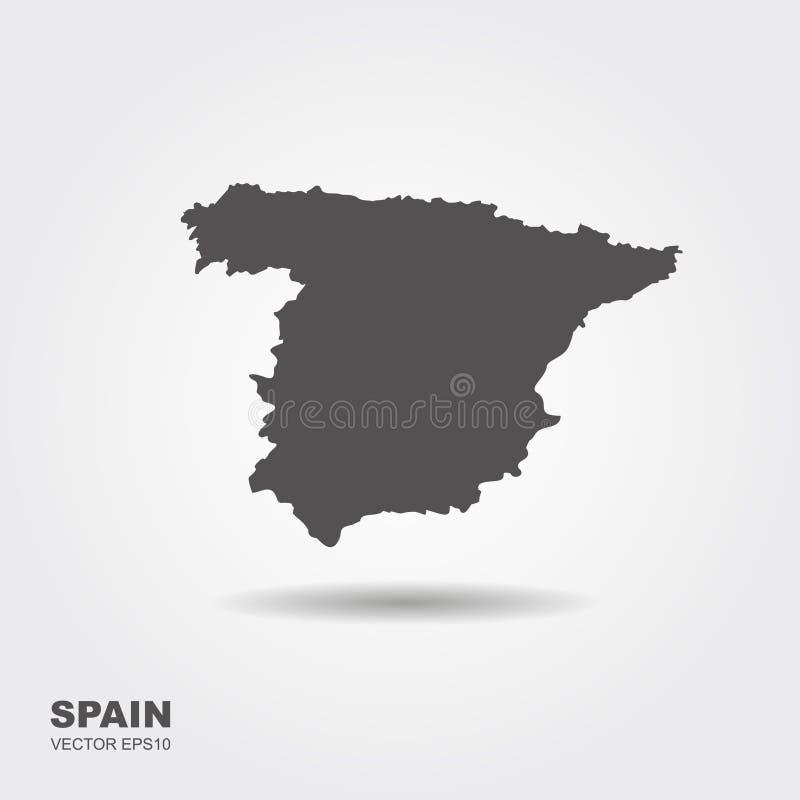 Map of Spain stock illustration
