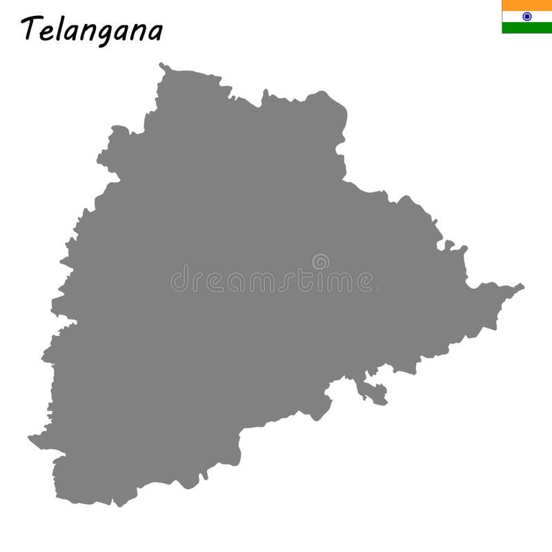 Telangana map vector stock vector  Illustration of hyderabad - 130548674