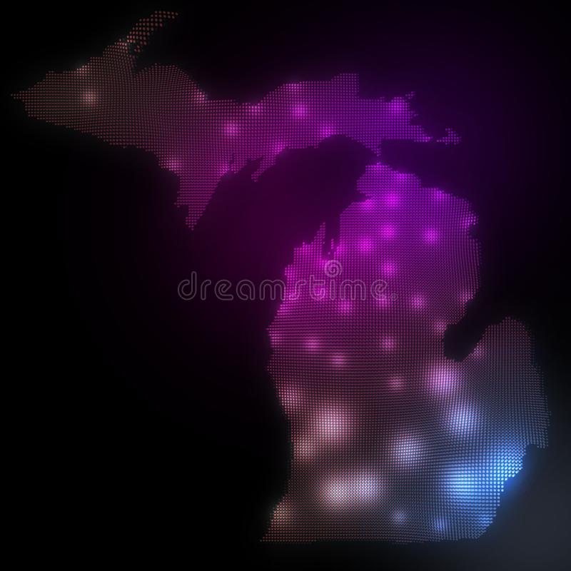 Map For State Of Michigan - Outline - Map Michigan - Us Map - United ...