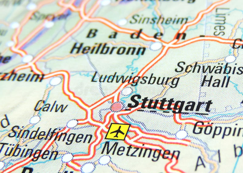 Map of Stuttgart stock photo Image of road magnification 70123070