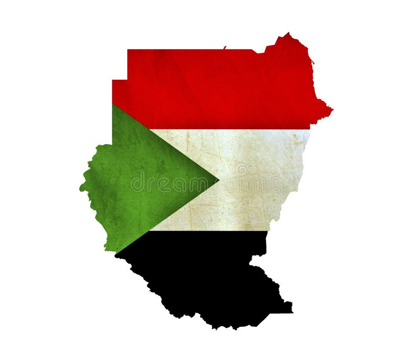 Map of Sudan isolated stock images