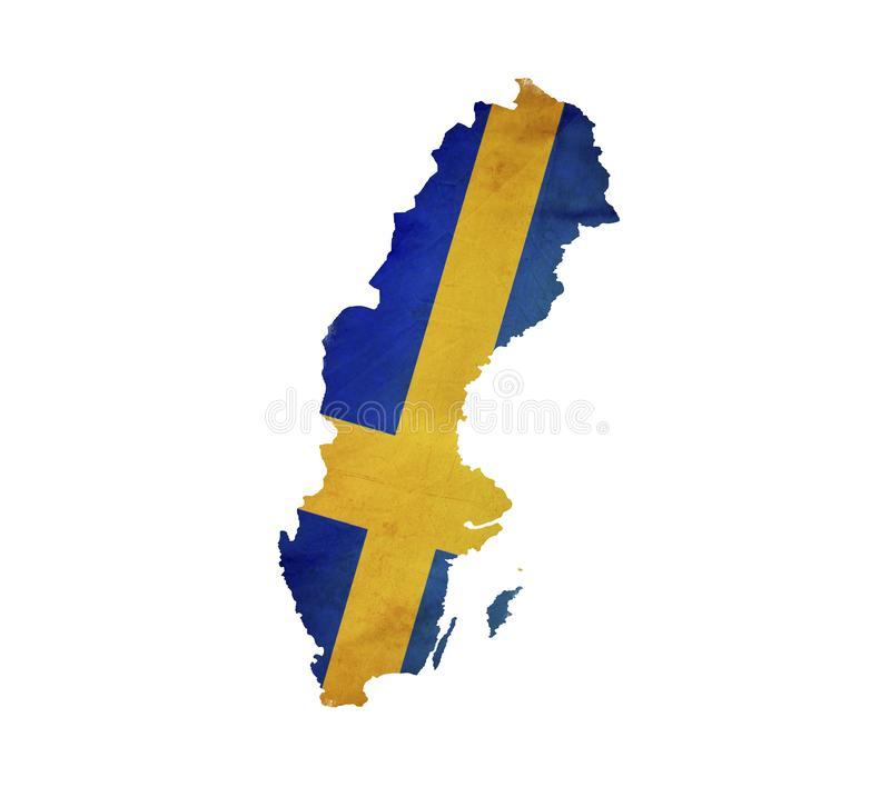 Map of Sweden isolated stock photos