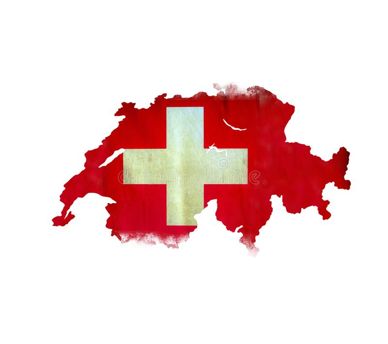 Map of Swiss isolated royalty free stock image