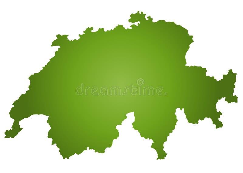 Map Switzerland vector illustration