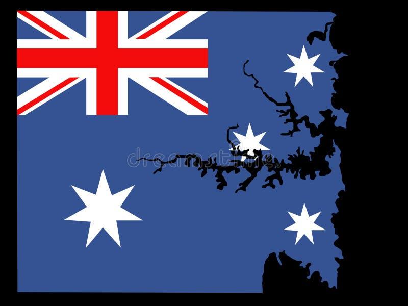 Map of Sydney area royalty free illustration