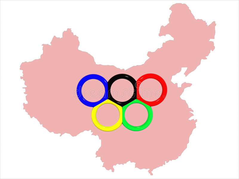 Download Map&symbol Of Olympic Games Stock Illustration - Illustration: 5454925