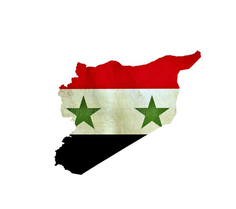 Map of Syria isolated stock photography