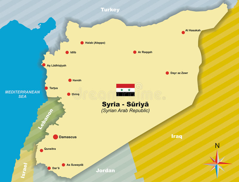 Map Of Syria Stock Vector Illustration Of Territory - Map of syria