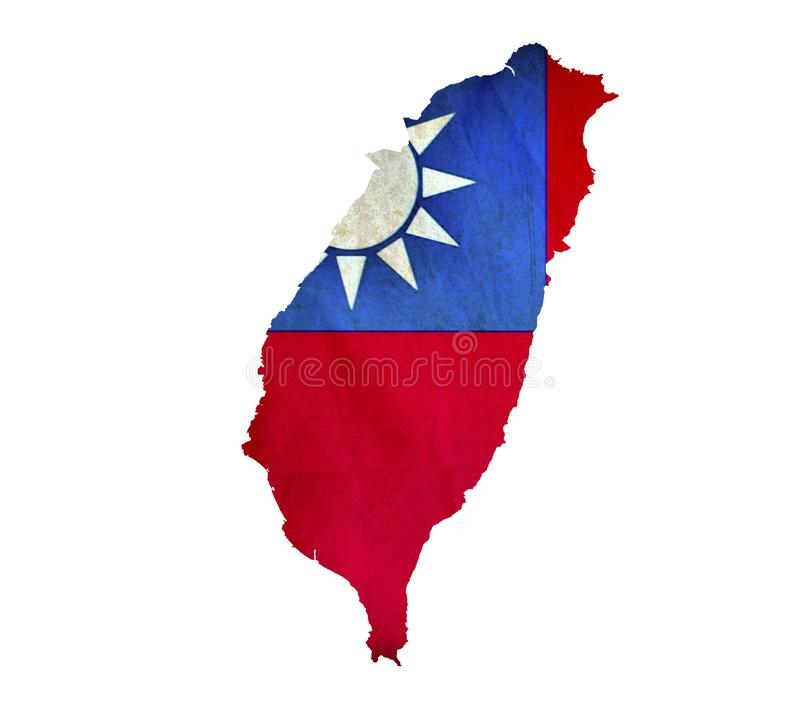 Map of Taiwan isolated royalty free stock images