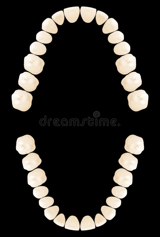 Map Teeth Royalty Free Stock Images