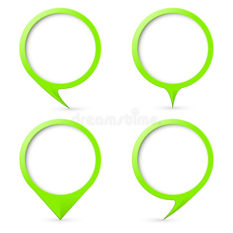 Map text marker. Green map text marker. Illustration for design on white background royalty free illustration
