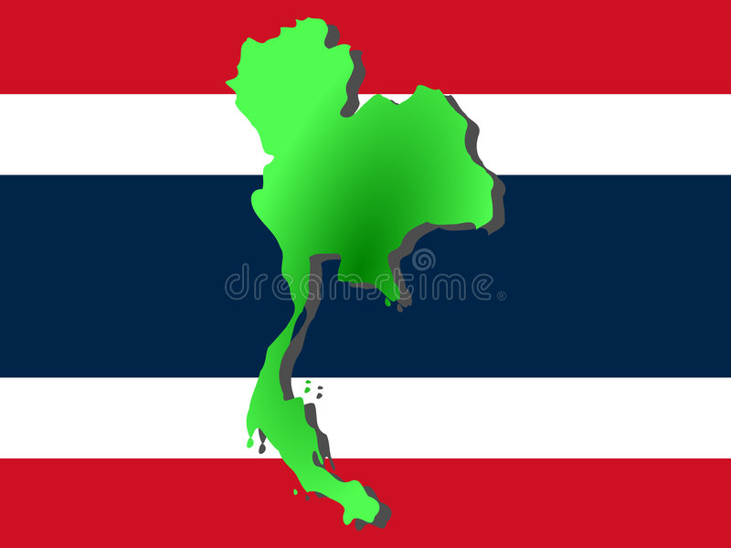Download Map of Thailand stock illustration. Image of diagram, flag - 2306053