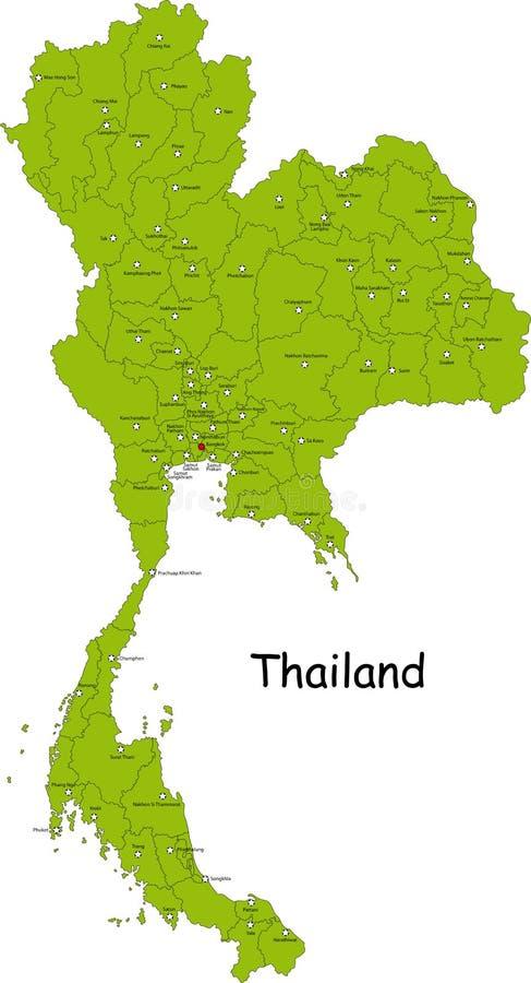 Map of Thailand stock illustration