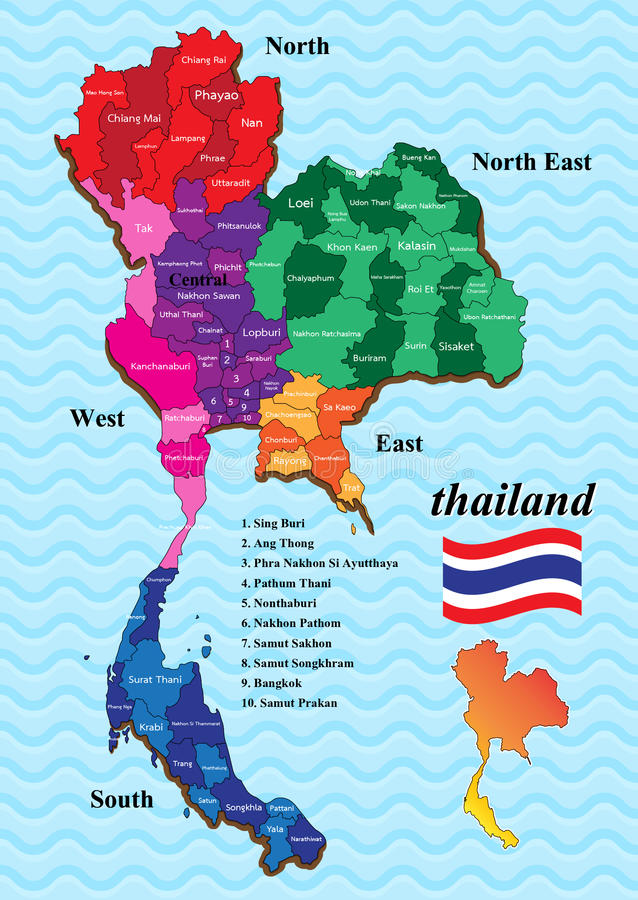 Map thailand stock vector Illustration of provinces 70972682