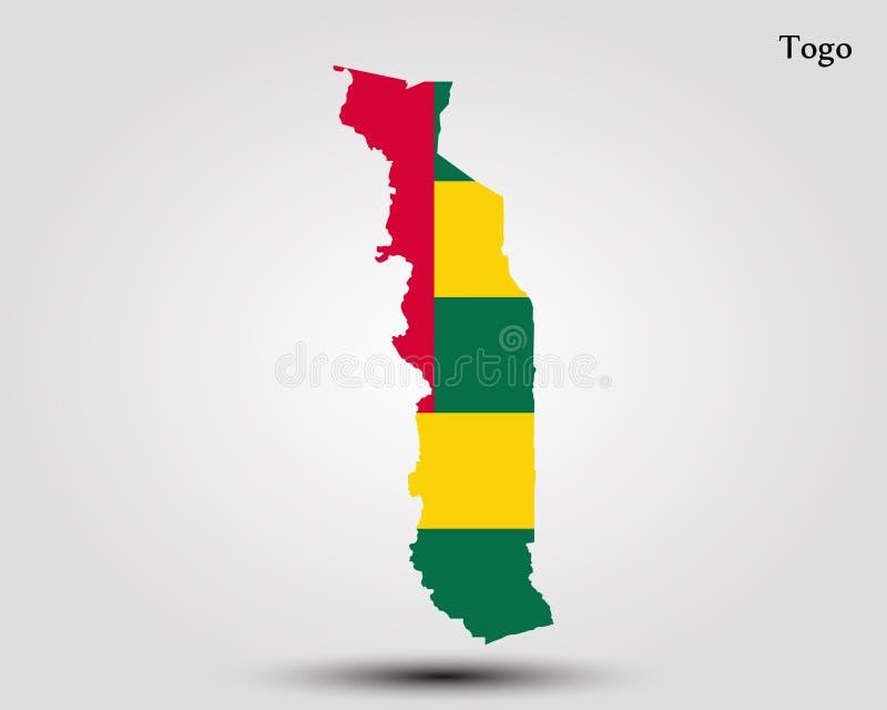 Map of Togo. Vector illustration. World map vector illustration
