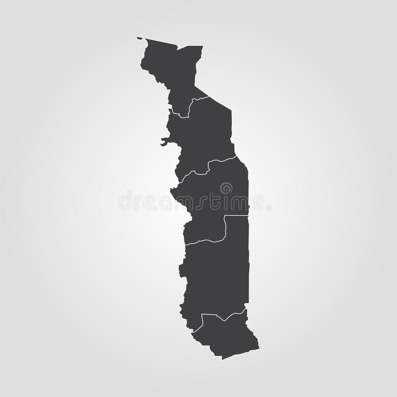 Map of Togo. Vector illustration. World map stock illustration