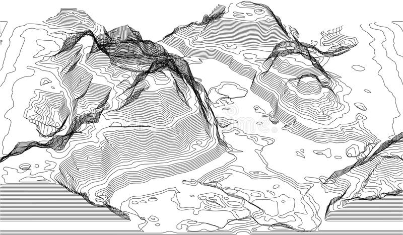 Map of the topography line. Vector abstract topographic map concepts with perspective for your copy. mountain tourism vector illustration