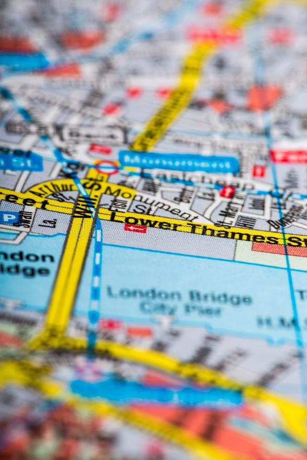 download map of london close up stock photo image of street 113591480