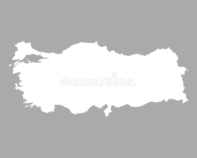 Map of Turkey. Detailed and accurate illustration of map of Turkey royalty free illustration