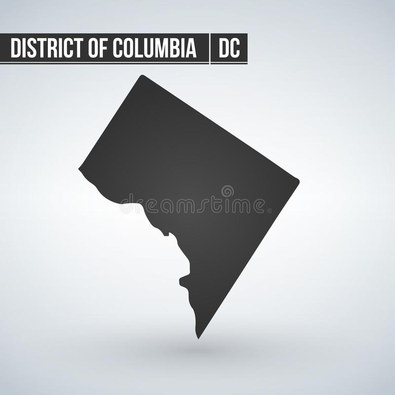 Map of the U.S. District of Columbia, vector illustration. stock illustration