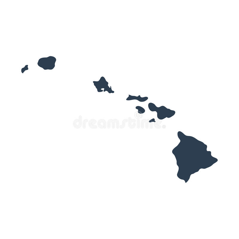 Map of the U.S. state Hawaii stock images