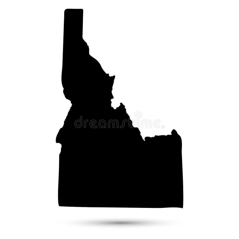 Map of the U.S. state of Idaho. Map of the U.S. state of Idaho stock illustration