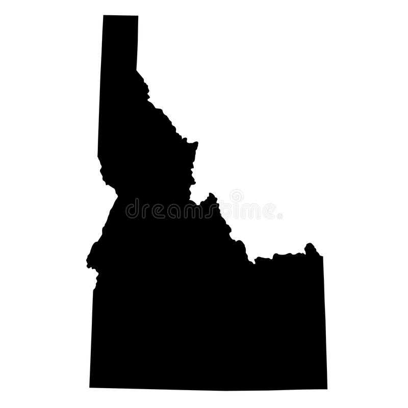Map of the U.S. state Idaho stock illustration