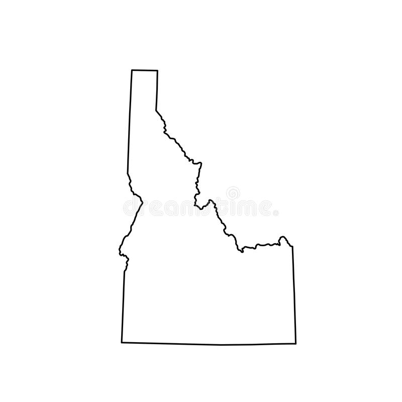 Map of the U. S. state Idaho vector illustration