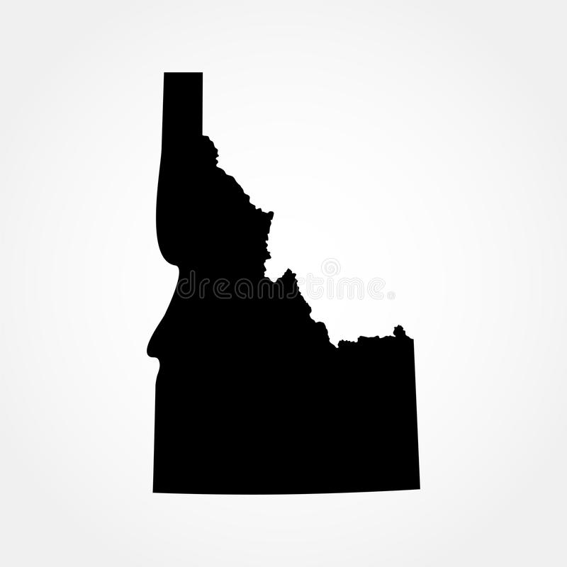 Map of the U.S. state of Idaho stock illustration